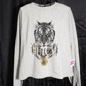 Juicy Couture Regal Tiger Pullover NWT